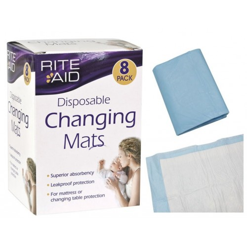 Rite Aid Disposable Changing Mats 8 In A Pack